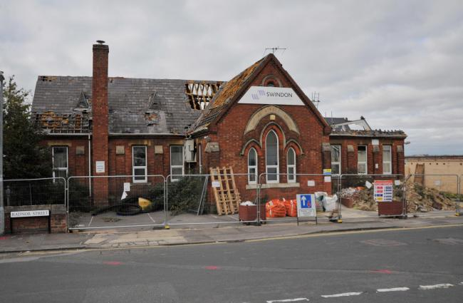Part of the roof is missing at the former Clifton Street School at Radnor Street 					               Picture: DAVE COX