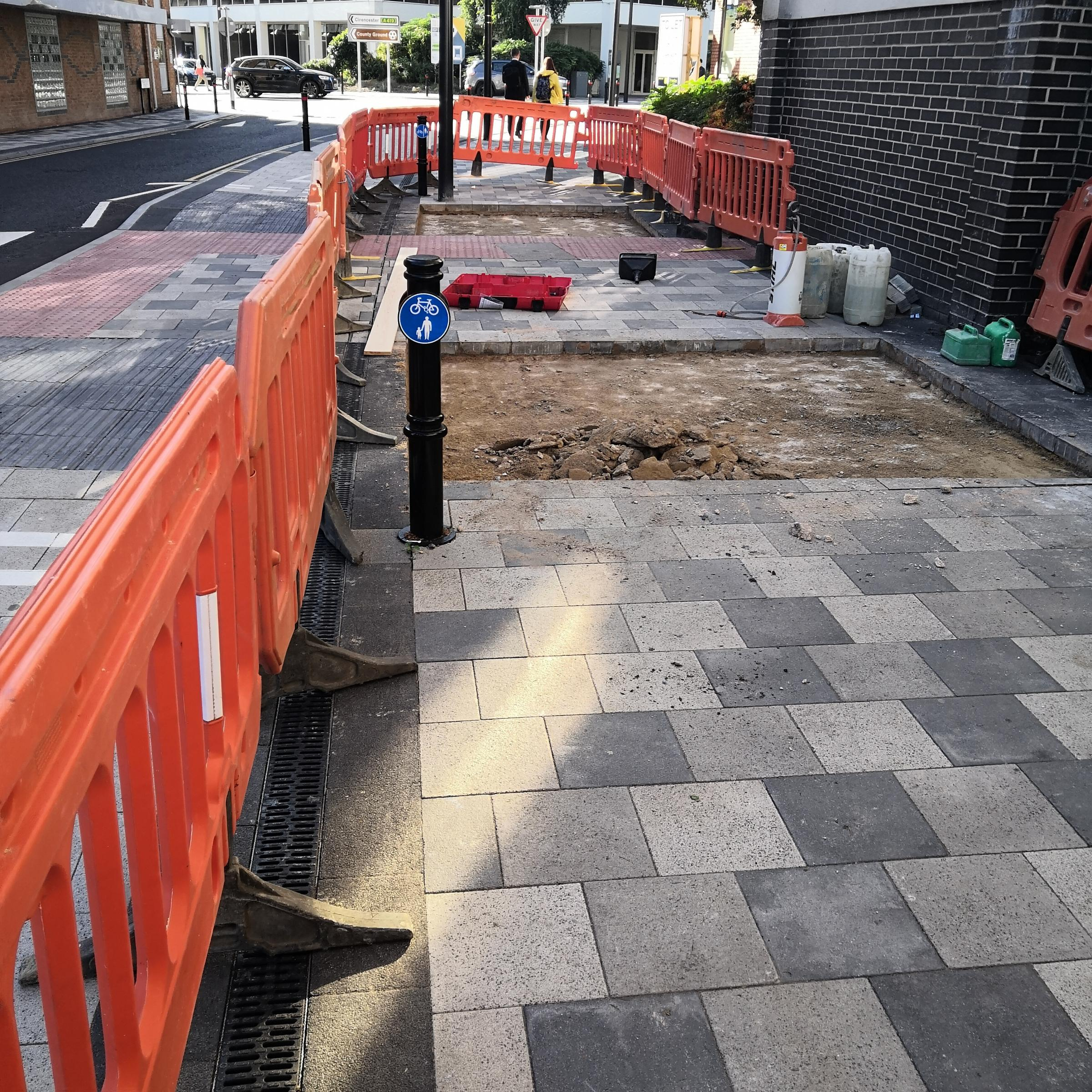Swindon council digs up £800,000 'front door' at Wellington Street after noisy paving complaints