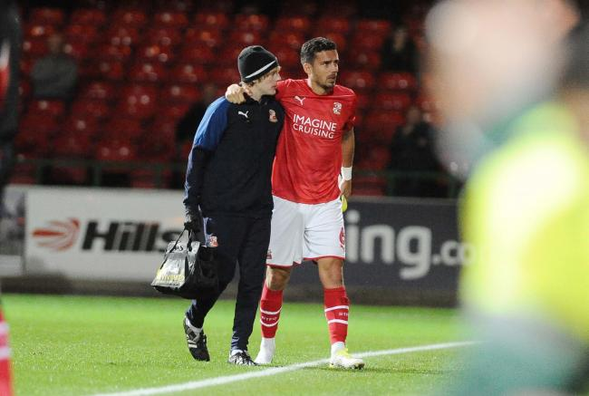 STFC v Cochester      Pic Dave Evans.Mathieu Baudry leaves the field injured.