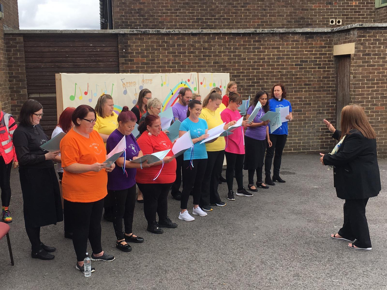 Swindon sing song celebration strikes the right note