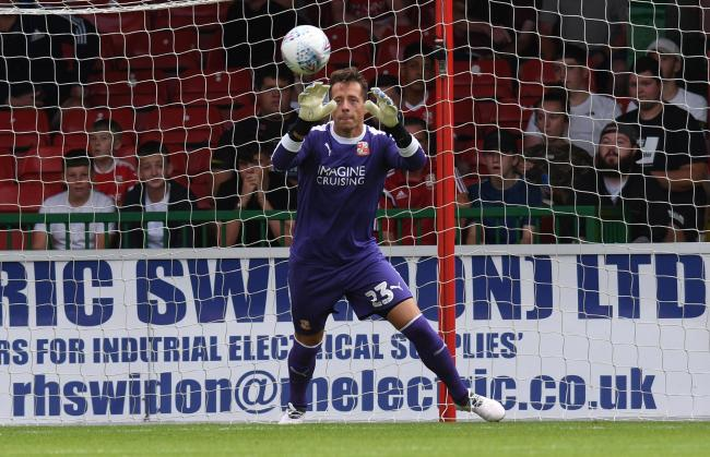 Town goalkeeper Luke McCormick. PICTURE: Rob Noyes.