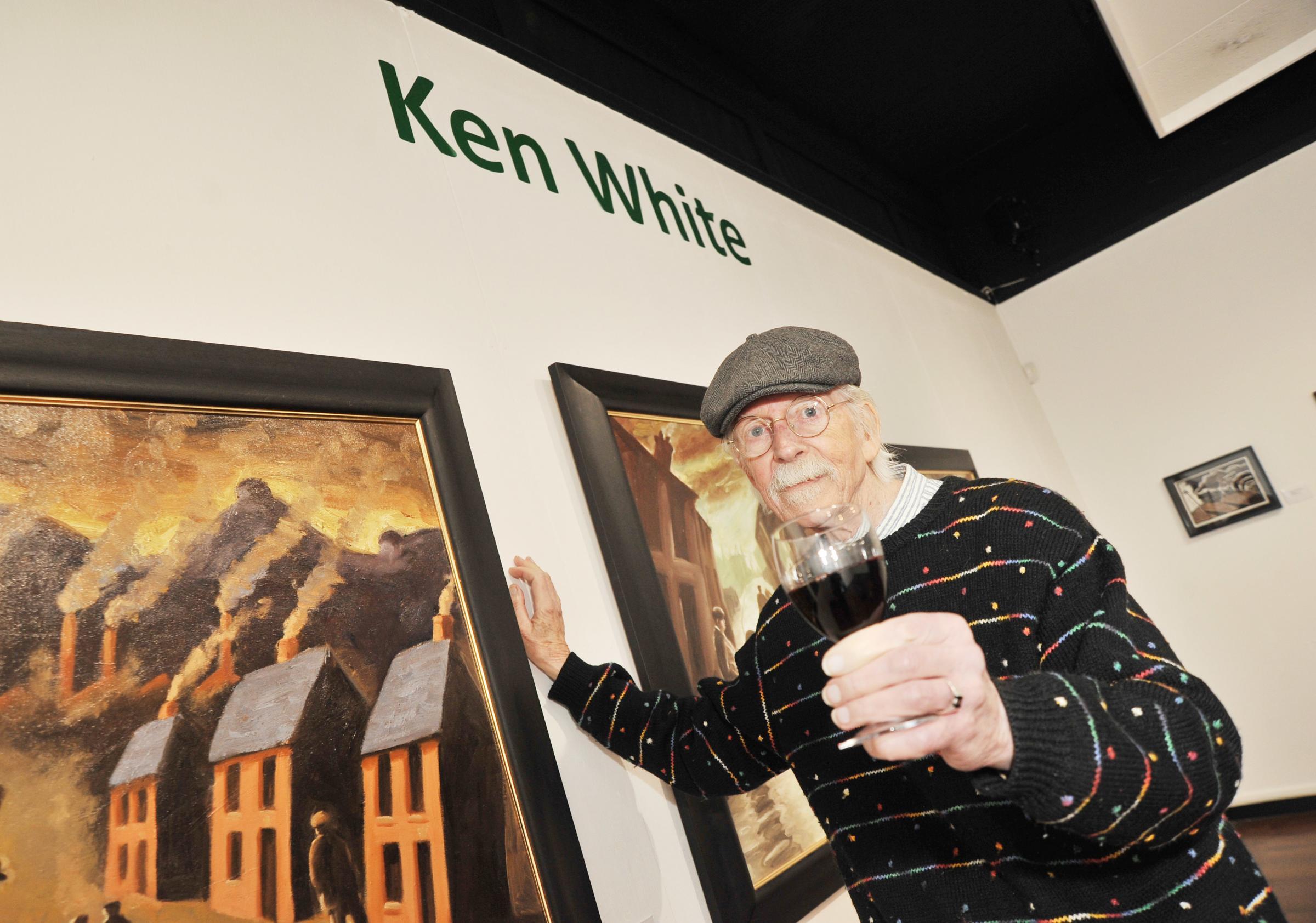 Swindon painter Ken White has got a solo Museum show - at long last