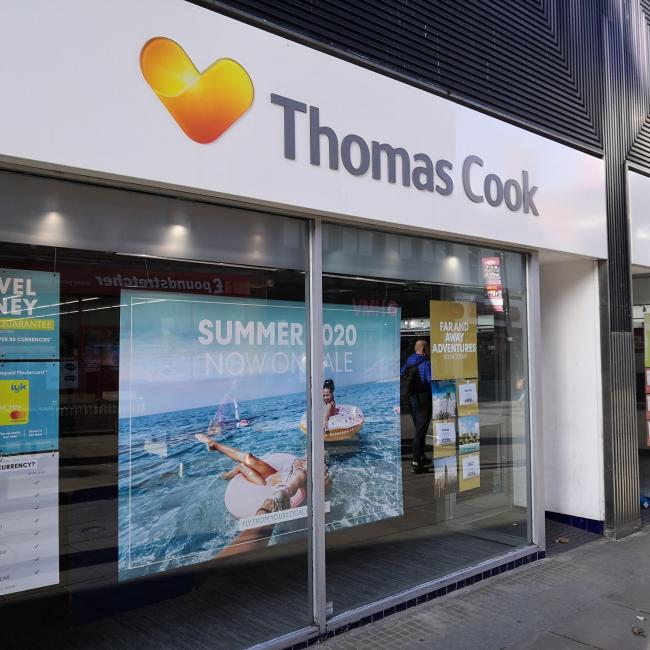 Thomas Cook shops closed in Swindon