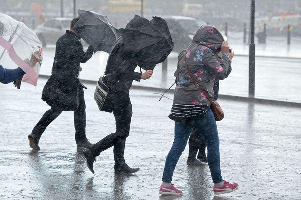 Get those brollies ready - heavy rain forecast throughout Tuesday