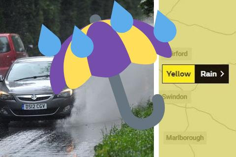 RAIN WARNING: Met Office issues yellow weather warning for rain in Swindon