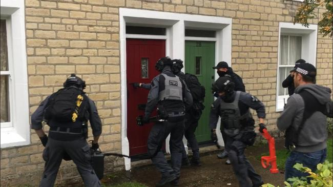 This is why you saw armed police raiding in Swindon earlier