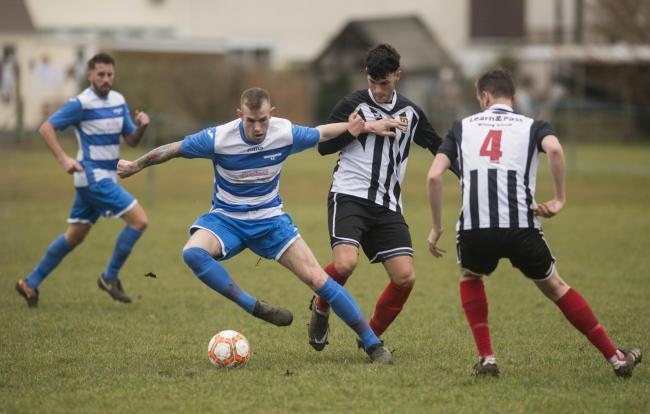 Shane Hibbert scored twice for Wroughton in their win over Shrewton United