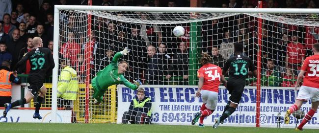 STFC v Plymouth Argyle       Pic Dave Evans      12/10/19.Town 'keeper Steven Benda in action against Plymouth.
