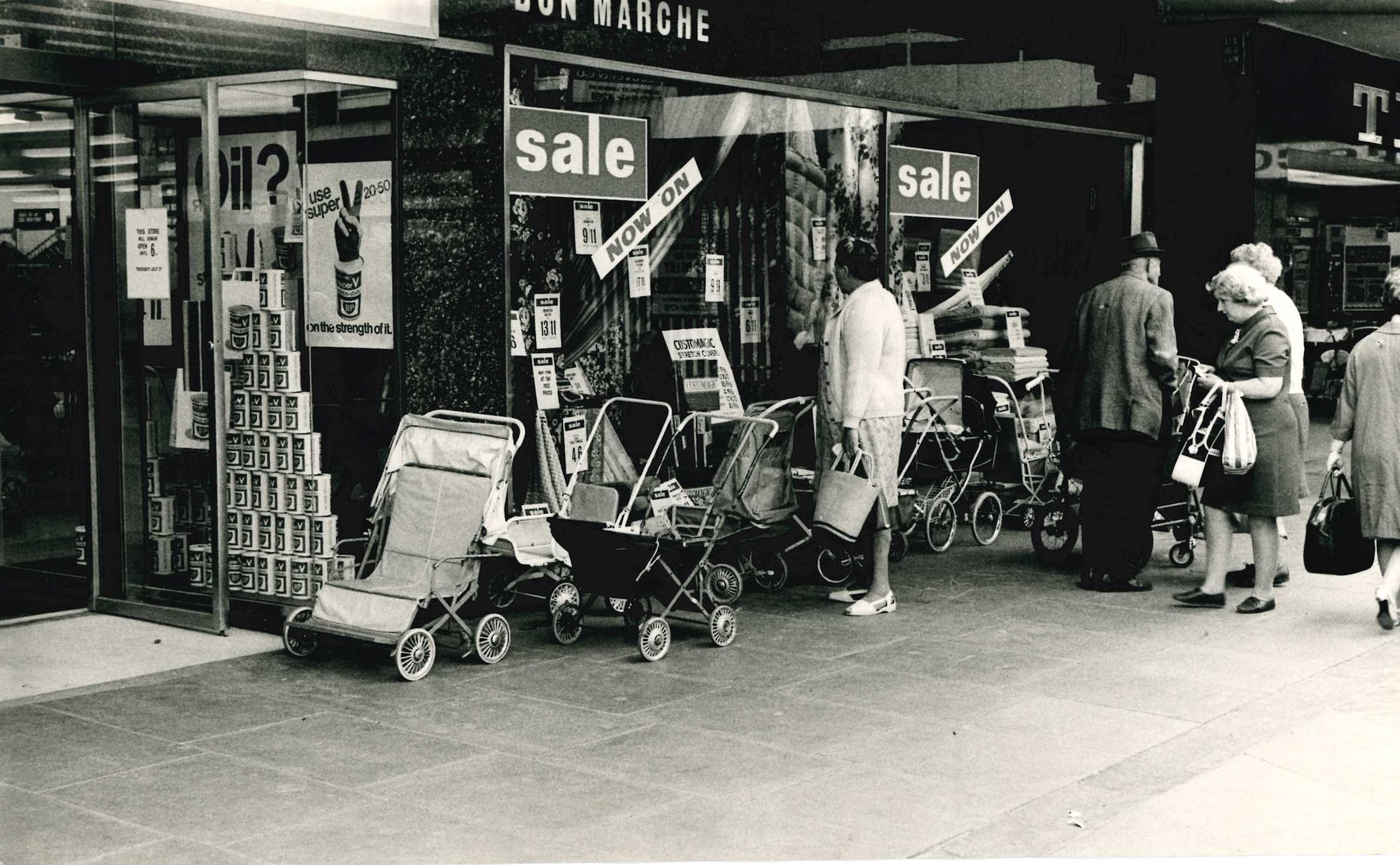Swindon's shiny new department store more than 50 years ago
