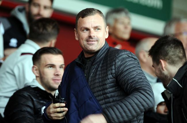 Crawley v STFC          Pic Dave Evans         26/10/2019.Richie Wellens enjoying watching from the stands.