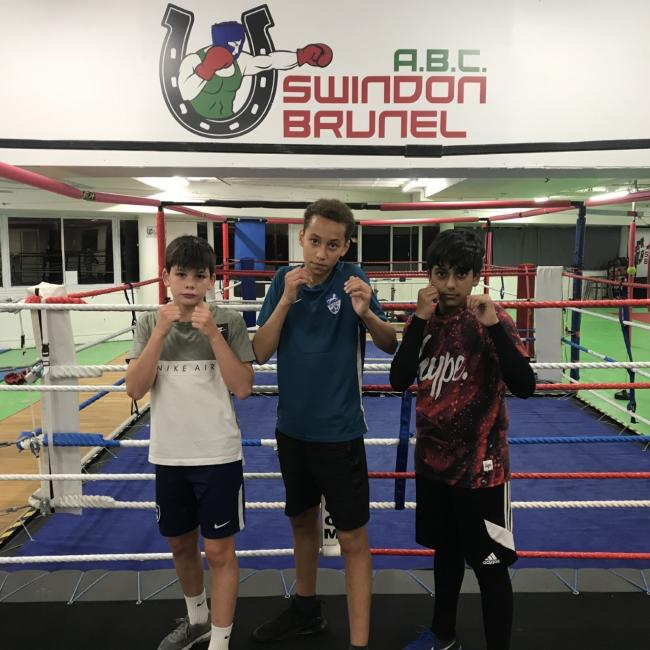 From left to right: Brunel ABC's Peter Stow, Mathew Wootten & Frayson Fernandes