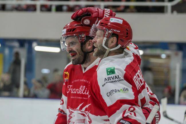 Swindon Wildcats v MK Lightning; Saturday, October 26, 2019; Aaron Nell, Max Birbraer; PICTURE: KAT MEDCROFT