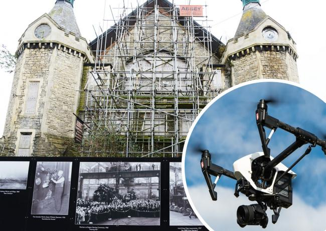 Drones will be used this week to assess the size of the restoration job at the Mechanics' Institute, which has been unused since 1986