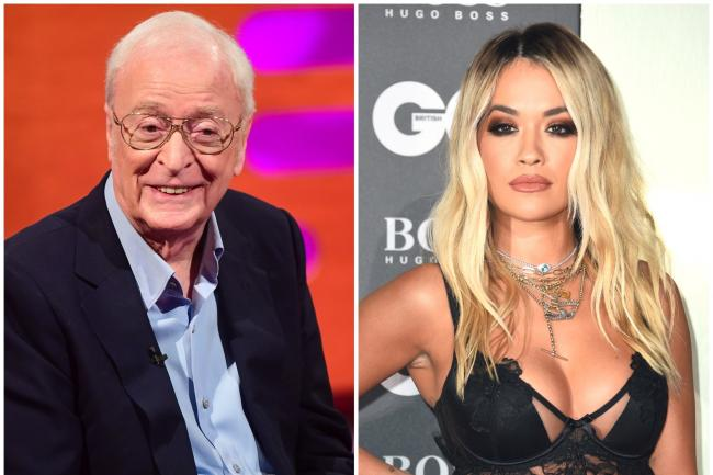 Sir Michael Caine and Rita Ora