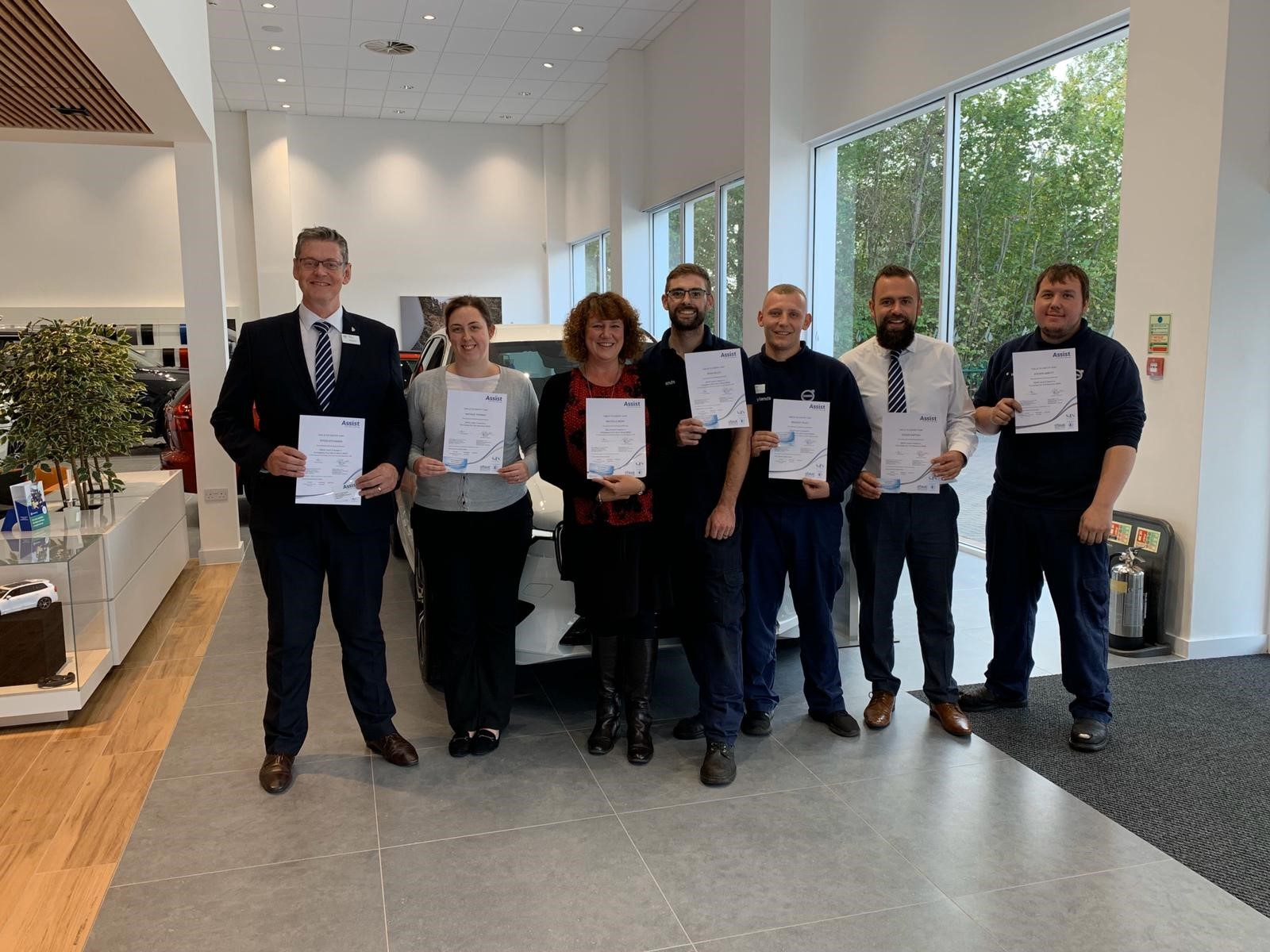 Swindon Volvo dealership installs defibrillators