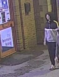 The man police want to speak to about an attempted robbery outside Machine Mart Picture: WILTSHIRE POLICE