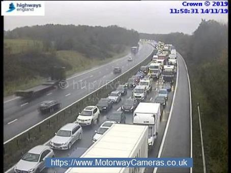 Vehicle fire closes lane on M4 eastbound