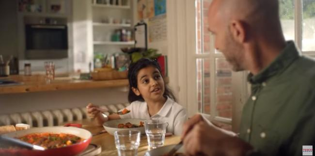 Tesco meat-free sausages advert
