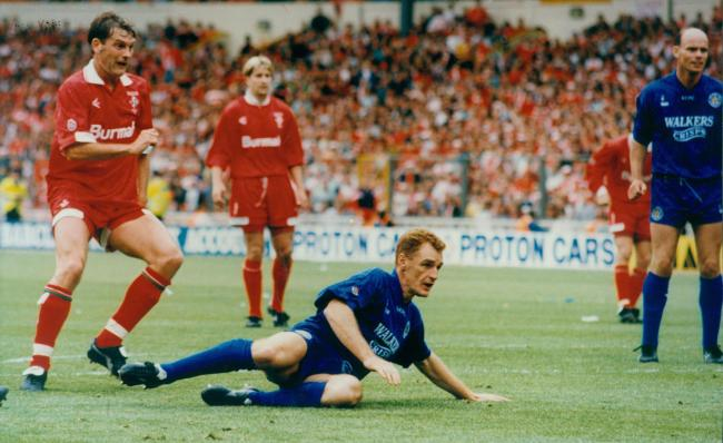 Glenn Hoddle became a Swindon Town legend when he scored the club's first goal in the memorable 1993 Division One play-off final at Wembley against Leicester City