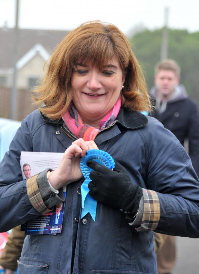Nicky Morgan is coming to campaign with Robert Buckland in South Swindon and Chiseldon on Thursday..Pic - Nicky Morgan.Date 21/11/19.Pic by Dave Cox..