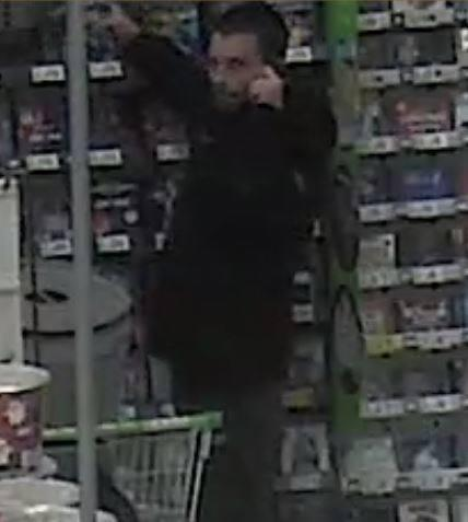 Graham Kidd pictured on CCTV in Swindon ASDA Picture: WILTSHIRE POLICE