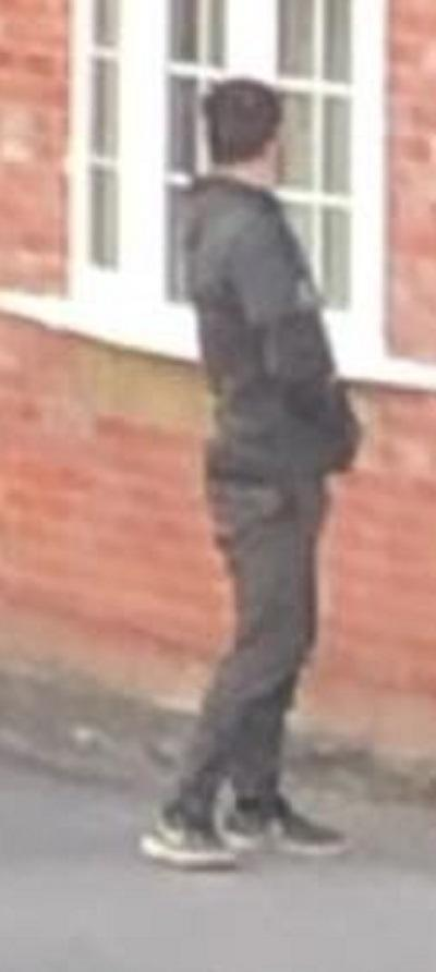 Police would like to speak to this man in relation to an attempted break-in