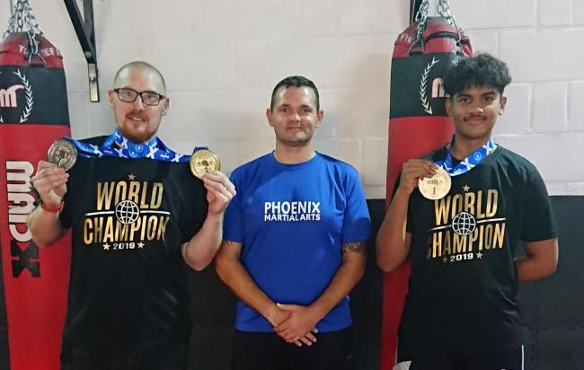 Phoenix Martial Arts & Fitness members Richard Lane, John Newman and Cody O'Bey