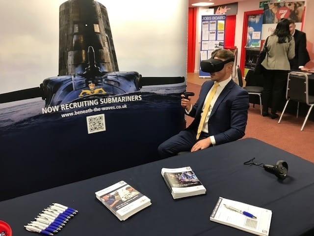 Swindon jobseekers get a virtual reality glimpse of work with the Royal Navy
