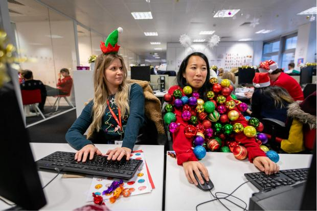 Swindon Advertiser: You could create your own seasonal sweater for Christmas Jumper Day. Pic credit: Save the Children