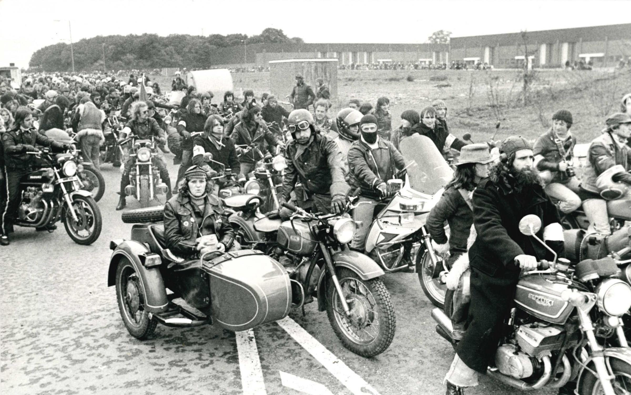 Bikers met in Swindon and claimed their rights