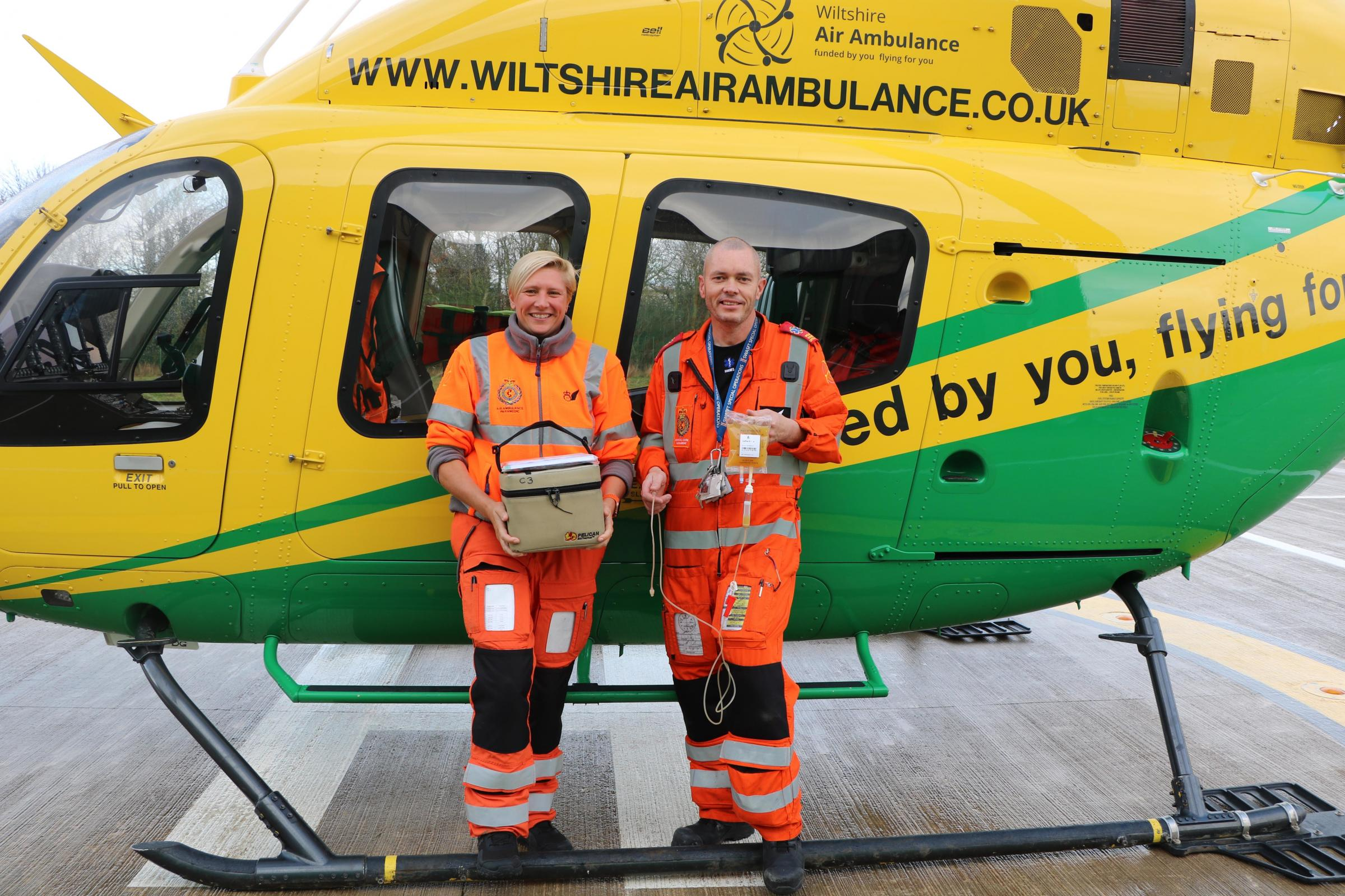 Wiltshire Air Ambulance adds plasma and O negative blood onboard