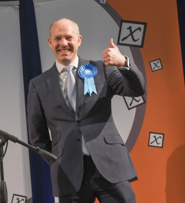 Justin Tomlinson celebrates winning every ward in north Swindon
