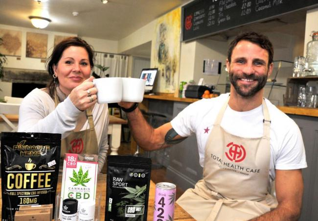 Emma Amini and Chris Dale owners of Total Health Cafe