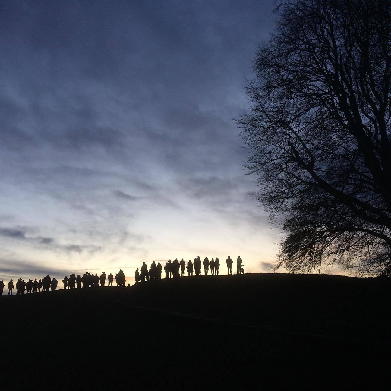 Winter solstice celebrated at Avebury stone circle and Stonehenge