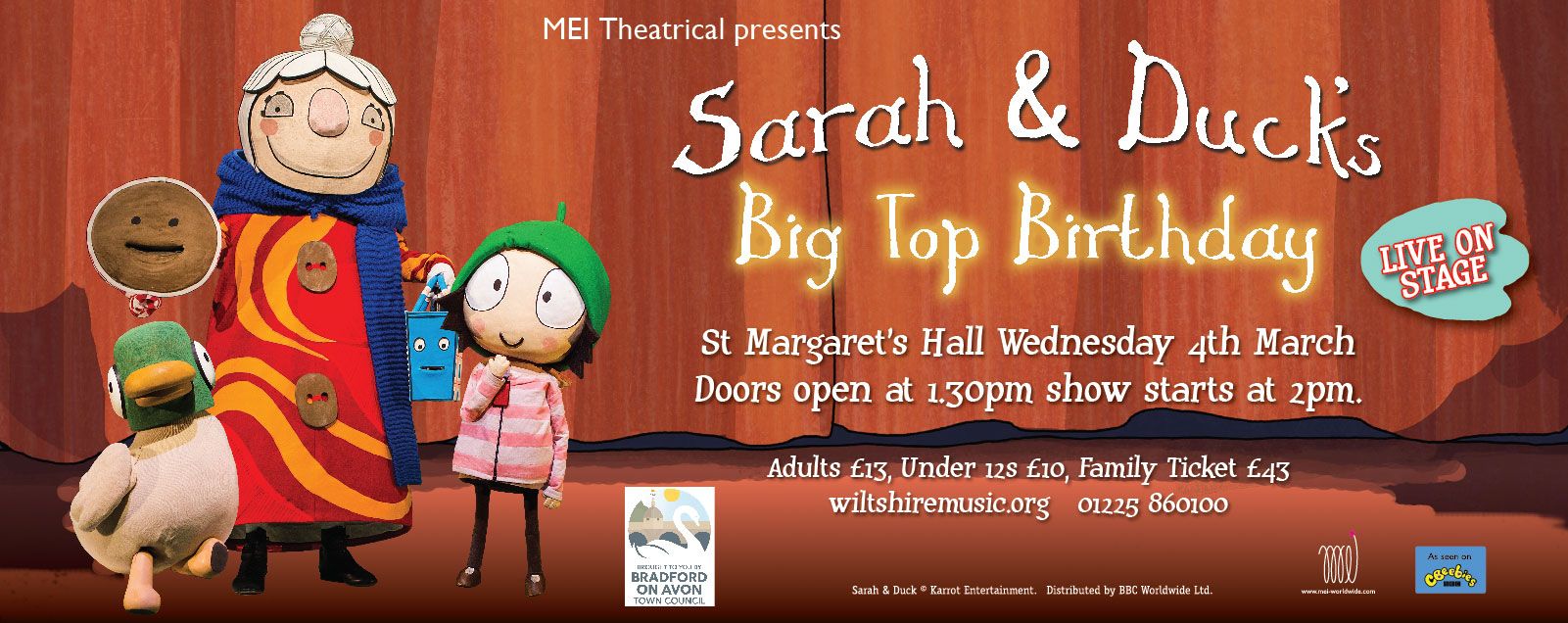 Sarah & Duck, Big Top Birthday.