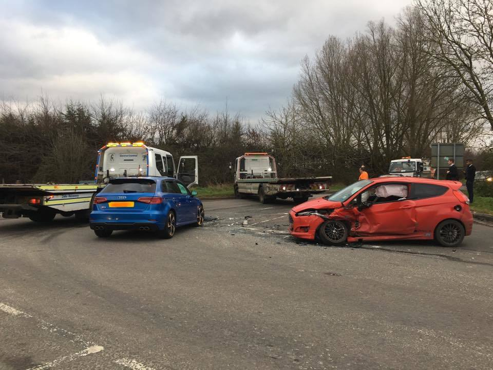 Three-car crash near Royal Wootton Bassett
