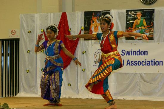 Dancers taking part in the Diwali celebrations at the Punjabi Community Centre