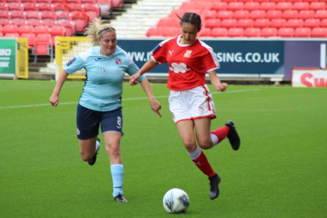 WOMEN'S FOOTBALL: Town let half time lead slip at home to Exeter