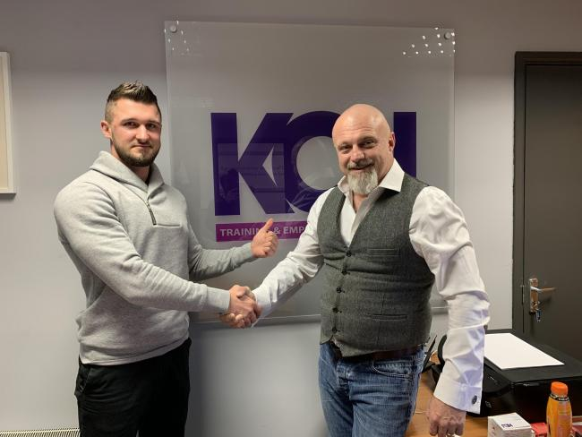 KCJ Training and Employment Solutions employee Krzystof Krzywozeka and managing director Don Bryden