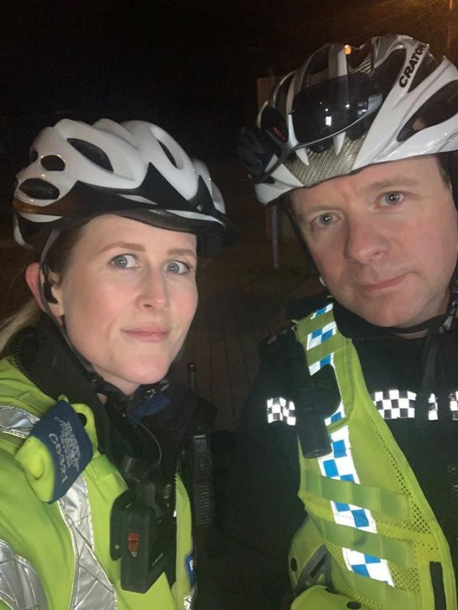 PCSO John and PS Fay from the Swindon Central South CPT Neighbourhood Team