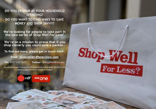 Shop Well for Less returns to TV screen for series five (and it's looking for a Swindon family)