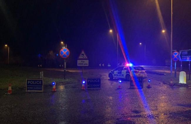 The scene on the A419 last night Picture: RWB POLICE
