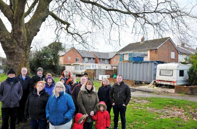 Pictured in 2019, Purley Avenue neighbours fed up with shipping container and mobile home mess