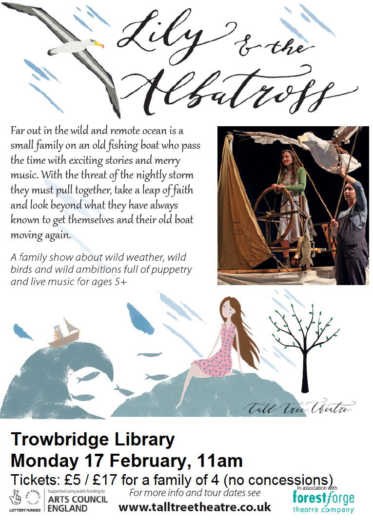 Lily and the Albatross Puppet Show at Trowbridge Library