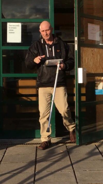 Alan Collard outside Swindon Magistrates' Court