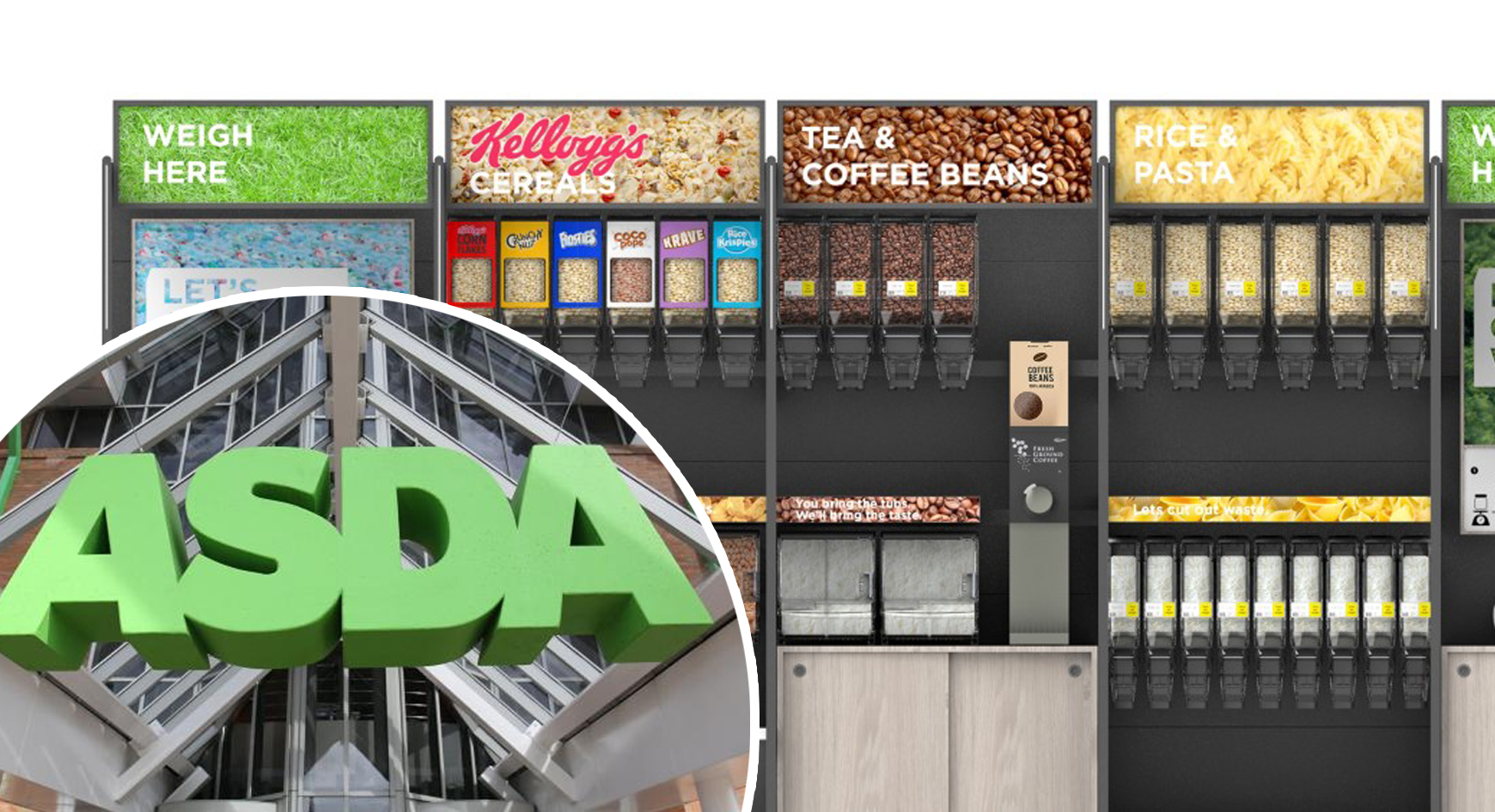 Asda launches first 'sustainability store' with naked florist, reverse vending machines and more loose produce