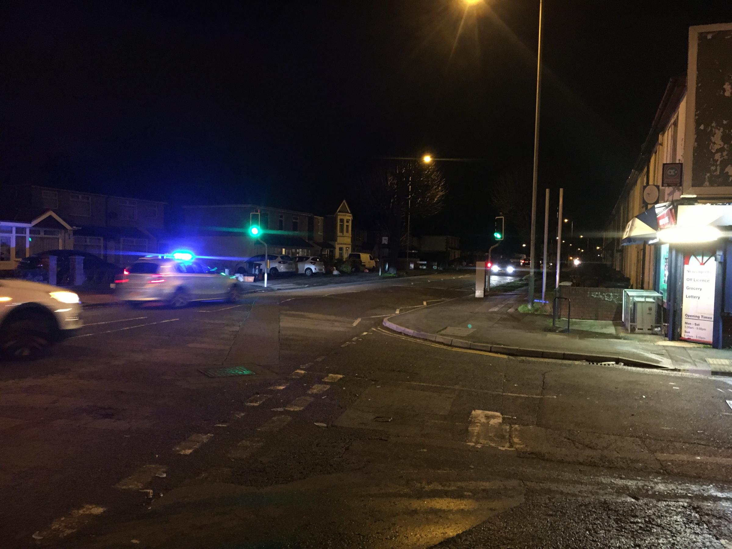 Police at scene of two car crash on Cheney Manor Road