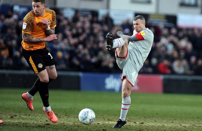 Newport County v STFC      Pic Dave Evans    18/01/2020.Scotland's Paul Caddis in action in South Wales.