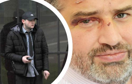 Left: Ewin Francis outside Swindon Crown Court; Right: Jamie Hill of the Swindon Link Pictures: ADVER PHOTOGRAPHER