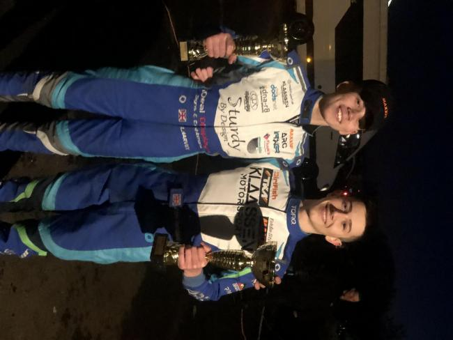 Louis Harvey (left) took third place at the Shenington Kart Club winter series